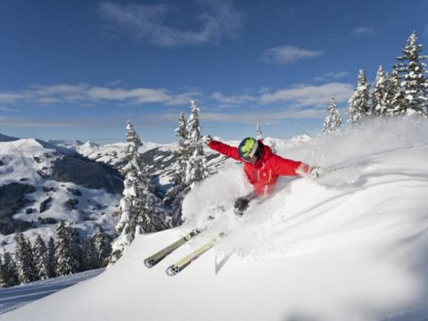 Fresh powder in Saalbach Hinterglemm Leogang