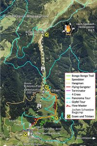 Trail Map of the Bike Park Leogang