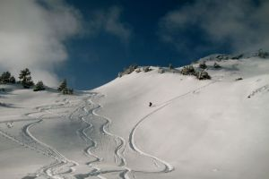 Ski touring on the Saalbachkogel