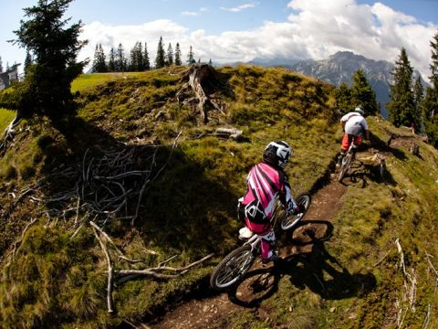 The hangman trail in the Bike Park Leogang