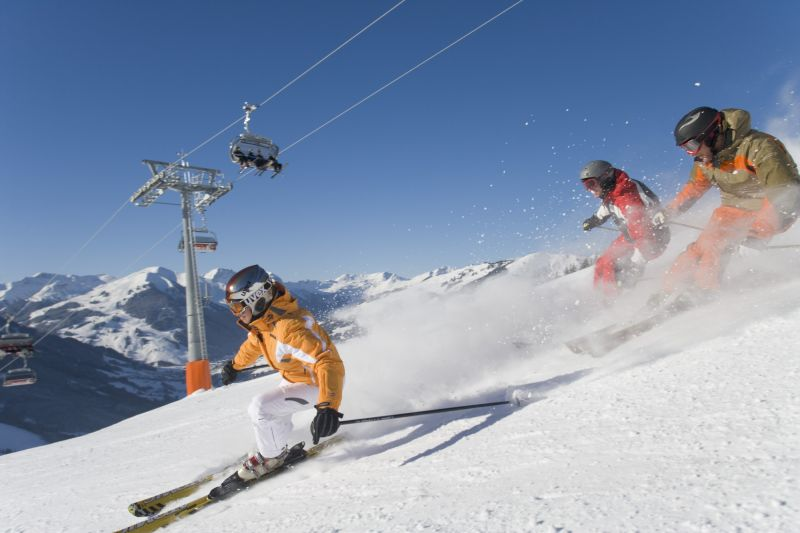 On-piste-action in Saalbach Hinterglemm